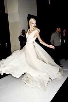 naimabarcelona: Sasha Luss Backstage at Elie Saab Spring 2014 Couture