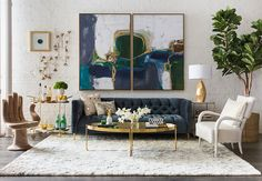 Boho Luxe - Embrace your inner bohemian with this fantastic loft design, centered on the handsome Randall Sofa.