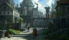 Pin by Ryan Reed on Digital Painting Fantasy city Fantasy landscape Dark fantasy art