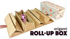 Origami Roll Up Box Tutorial  DIY Accordion Box  Paper Kawaii #origami #paperkawaii