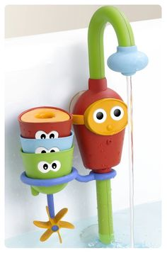 fun bath toy for kids - creates a fountain without having to leave the tap running (no wasting water!)