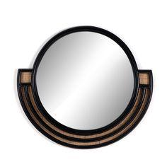 Burke Decor, Black Mirror, Outdoor Wall Lighting, Round Mirrors, Layered Look, Simple Lines, Bathroom Fixtures, Bathrooms, Modern Room