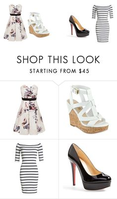 """Untitled #76"" by chinesharris on Polyvore featuring Little Mistress, GUESS, Superdry and Christian Louboutin"