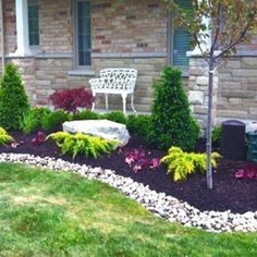 There are many ideas to create beautiful outdoor spaces for you and your family hang out. #LandscapingDIY