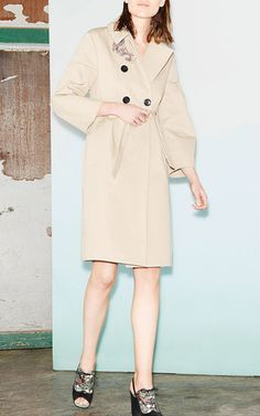 Dreamy Natural Trench Coat by DOROTHEE SCHUMACHER for Preorder on Moda Operandi