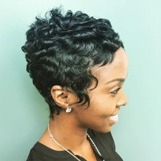 Short Quick Weave Styles, Short Styles, Dope Hairstyles, Black Girls Hairstyles, Short Hair Cuts, Pixie Cuts, Short Pixie, Short Haircut Styles, Different Hair Types