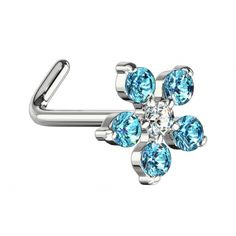 Aqua, Messing, Belly Button Rings, Stud Earrings, Jewelry, Crystals, Steel, Silver, Florals