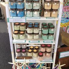 Display of some of our soy candles at a craft market.