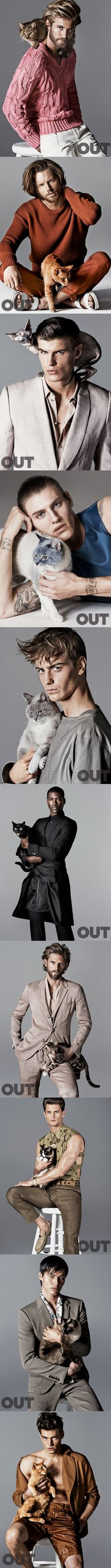 Hot Men with Cats | Giampaolo Sgura