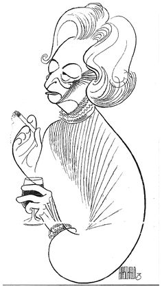 Al Hirschfeld ~ Lillian Hellman