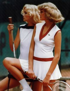 With the start of the US Open, I& brushing up on the history of tennis—specifically the fashion history. I took a deep dive into the archives of French sportswear brand Lacoste, pulling the ten images that remind me why tennis is the reigning king Tennis Outfits, Tennis Wear, Tennis Shorts, Tennis Clothes, Sport Outfits, Sport Tennis, Girls Tennis Dress, Hiking Outfits, Gym Outfits