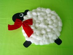 Paper Plate Lamb Craft from Kiboomu