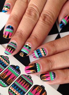 ncLA | Nail Wraps | Hued Geometry
