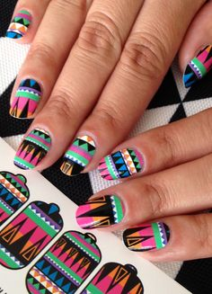 ncLA | Nail Wraps | Hued Geometry