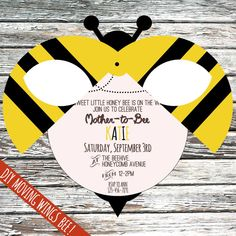Personalised Mother to Bee baby shower by JessieAndJabberwock