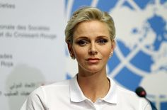 Princess Charlene at the launch of 2016 World First Aid Day