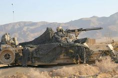 4th ID M1A2 in a hull position  (US ARMY photo)