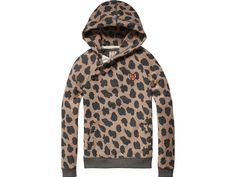 Scotch R'belle sweat with twisted hood and animal print | www.eb-vloed.nl