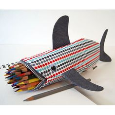 Love this handmade shark pencil case from minnebites @Etsy. Could be great for kids OR parents!