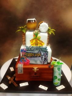 #Cuban themed #Birthday #Cake - http://eddascakedesigns.com
