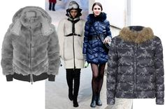 Chic puffer jackets are becoming popular due to the cold winter weather. Fur is a common detail on these jackets. Fur is used on the outside as well as on the collar. Stephanie J.