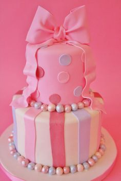 Birthday Cakes NYC - Pink-Bow Custom Cakes