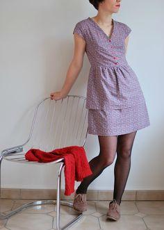dress, tights, oxfords