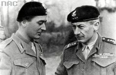 From left to right: Major Michał Gutowski, Colonel Tadeusz Majewski Armoured Division). Poland History, Sands, Armed Forces, Moving Forward, World War Ii, Division, Ww2, Armour, Military