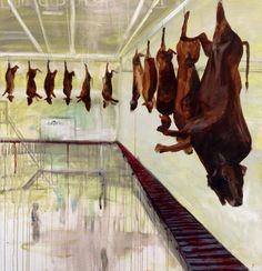 If slaughterhouses had glass walls, everyone would be a vegetarian. Don't be discouraged- you can make a difference today by incorporating more plant-based vegan meals into your diet! Click to learn how | Animal art by Rachel Black