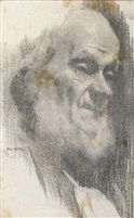 Head of an old Achill man by Paul Henry