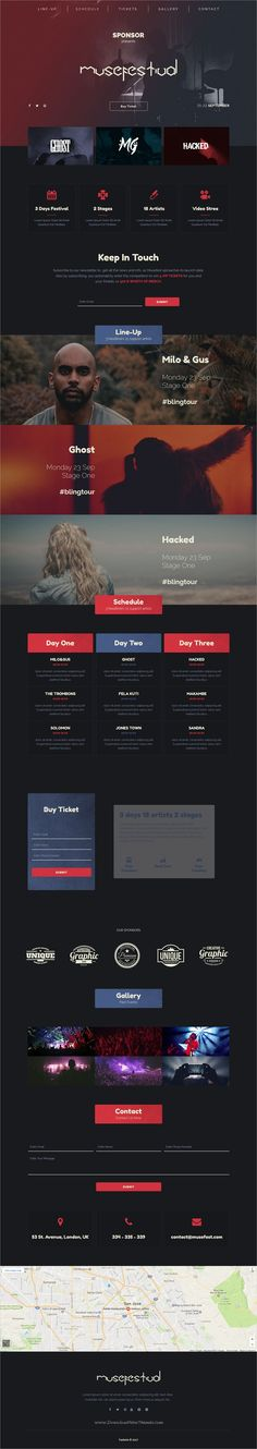 Musefest is onepage modern design #Adobe #Muse template for #promoting a #music concert or festival website download now➩ https://themeforest.net/item/musefest-music-festival-muse-template/19364639?ref=Datasata