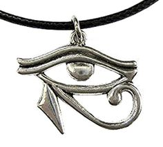 c3997f5459292 Symbole Collier Eye Of Horus Ra Avec collier pendentif Lanyard noir  égyptienne Egyptian Egypte Hommes Femmes