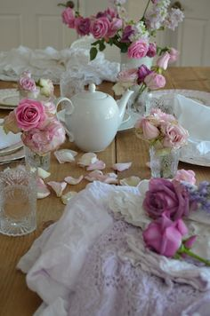 Lace, flowers and vintage glass - what our wedding will be full of!