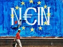 Graffiti about Greek crisis fills Athens' streets