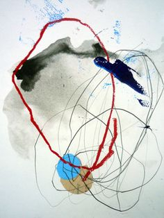 """Saatchi Online Artist Bea Mahan; Mixed Media, """"Untitled"""" What you could do with watercolors"""