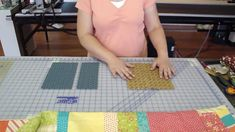 http://missouriquiltco.com - Natalie from Missouri Star Quilt Company shows how to mix and match Jelly Roll fabric with a Layer Cake to make a scrapy looking...