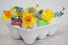 Tales from a happy house.: Flower Filled Eggs