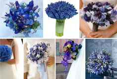 I know we talked about a mixed bouquet, but I find myself drawn to the all-blue bouquets; esp. those with irises.