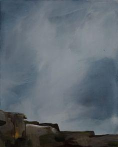"Saatchi Art Artist Andrea Jennings; Painting, ""Ireland, #2"" #art Saatchi Art, Ireland, Original Paintings, Clouds, The Originals, Canvas, Artist, Outdoor, Tela"