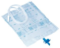 Urine bag 2 l, connector with puncture site, reflux valve, push drainage tap, individually packed sterile