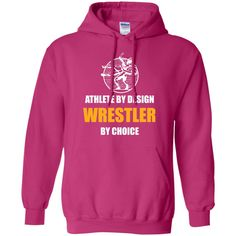 Funny Wrestling Gift - Athlete by design Hoodie