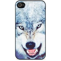 BlissfulCASE Wild Wolf iPhone 4s and iPhone 4 case found on Polyvore