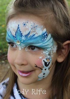 Frozen face paint, oh my girls would love this!