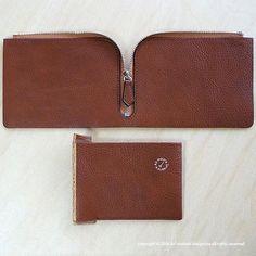 wallet / L型ジップウォレット . #leather #leathercraft #leatherwork #leathergoods #handmade #革 #Bespoke #AdmaioraDesignare #アドマイオーラデジナーレ#wallet #L型財布 #セレクトショップ