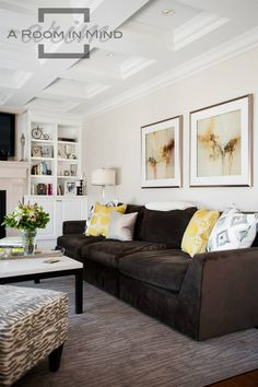 Neutral and yellow colour palette.