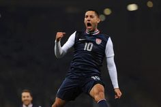 Clint 'Deuce' Dempsey after scoring against Italy