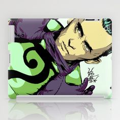 Why E. Nigma? iPad Case by Vee Ladwa - $60.00