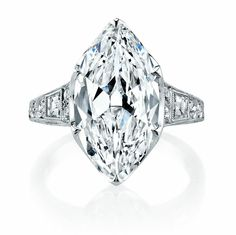 5.45 Carat Marquise Diamond Engagement Ring