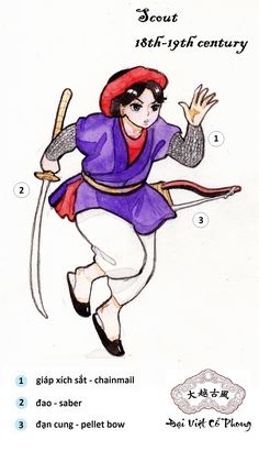 Vietnamese Clothing, Drawing Stuff, Ao Dai, World History, Costume Design, Traditional Outfits, Manhwa, Warriors, Disney Characters