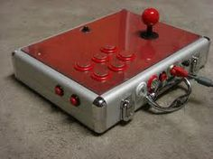 Manette arcade mallette rouge